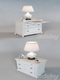 Bedside table Laurel 340-23-80 inlay in the set