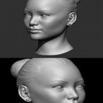 Asian Female Head Base Mesh