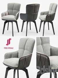 Freifrau Marla armchair low wooden frame