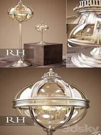 RH VICTORIAN HOTEL FLOOR LAMP DESK LAMP