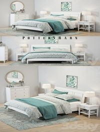 Pottery Barn Crosby White Bedroom set