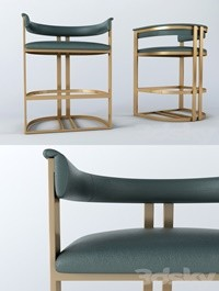 Calvin bar chair in ANTIQUE BRASS