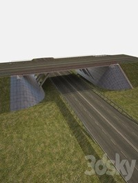 Overpass with inclined supports