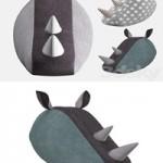 Decorative rhino head fabric SOFTHEADS