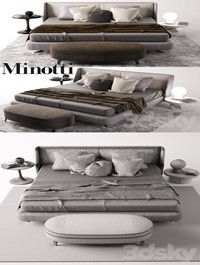 Minotti bed