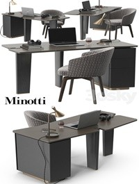Minotti Jacob desk set