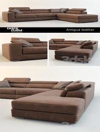 Sofa Antigua leather Ditre Italia