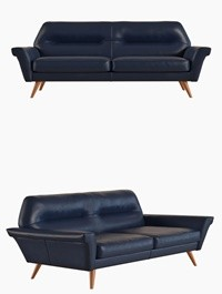 West Elm Denmark Leather Loveseat