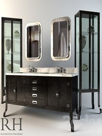 Restoration Hardware Pharmacy Collection Black