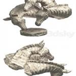 Hi Poly Sculpture of a Zebra