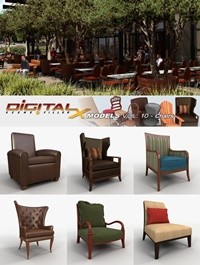 DIGITALXMODELS 3D MODEL COLLECTION VOLUME 10 - CHAIRS