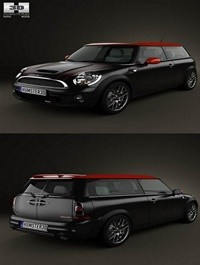 HUM3D Mini Cooper John Works Clubman 2011 3D Model