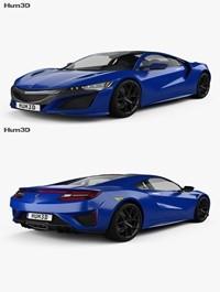 Acura NSX 2016 H3D 3D Model