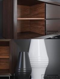 Wall shelf and TV board