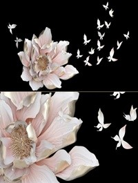 HP Decor Wall Decor Flower and Butterfly 2