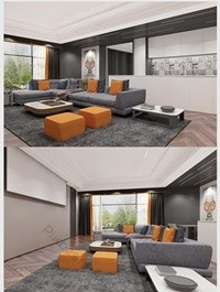 Modern avant-garde style personality home improvement full set of indoor renderings Decors & 3D Models Template MAX