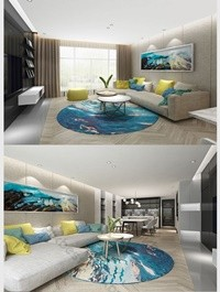 Modern minimalist casual style full set of home improvement renderings Decors & 3D Models Template MAX