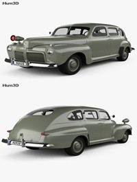 Ford V8 Super Deluxe Tudor Sedan Army Staff Car 1942 3D model