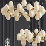 Chandelier Inflora 45 plafonds by Atelier Aret