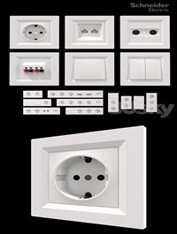 Sockets and switches Schneider Asfora White