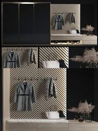 Modern shoe cabinet decoration combination
