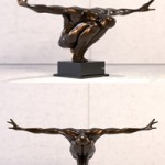 Olympic man Sculpture By Libra Company
