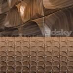 Wooden 3d panel 2