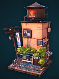 Stylised Ramen Shopfront