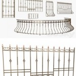 Balcony fencing and window grilles