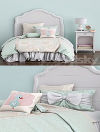 Baby bed and nightstand Juliette Pottery barn kids