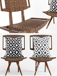Wicker chair Rotang Chair Nomad Makum
