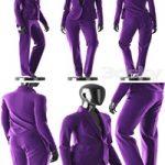 Woman Purple Suit