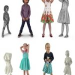 Child Collection x4 VR AR low-poly 3d model