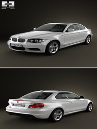 BMW 1 Series coupe 2009 3D Model