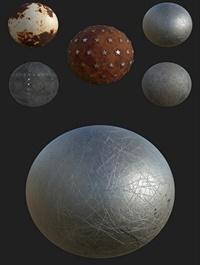 Grunge Metal Texture Pack 3D Model