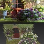Flower house near the house