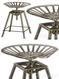 Charlie Industrial Metal Design stool