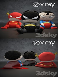 Soft toys superheroes of the DC universe