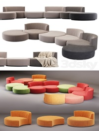 Modular sofa Mussi Italy Sedutalonga