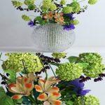 Viburnum anemones alstromeria and fritilaria persica