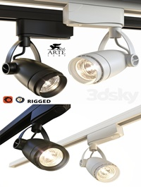 Arte Lamp Track Lights A5910PL1 Black and White