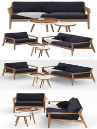 Restoration Hardware Milano teak sofa