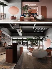 Coffee room Scene by Tuong Nguyen Duy