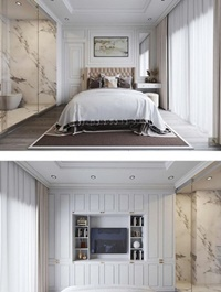 Bedroom Scene Sketchup by XuanKhanh