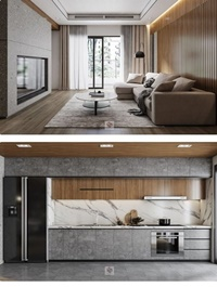 Living Kitchenroom by NguyenTienDat