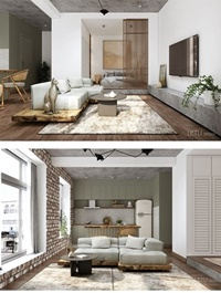 Interior Apartment Scene By TuLe