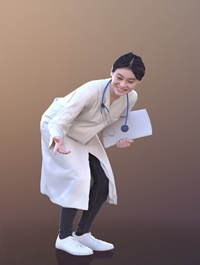 Francine 10369 Talking Asian Doctor VR AR low-poly 3d model