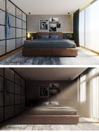 Interior Bedroom Scene Sketchup Model By VuongVuLinh