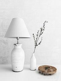 Neptune lamp and vase
