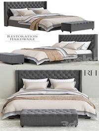 Restoration hardware gray bedroom